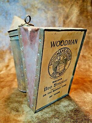 Vintage Woodmans Famous Bee Smoker Honeybee Beekeeper Apiary Hive Puffer Decor