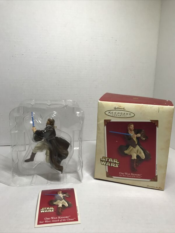 2002 Jedi OBI WAN KENOBI ~ Hallmark Ornament Star Wars Attack of the Clones AOTC