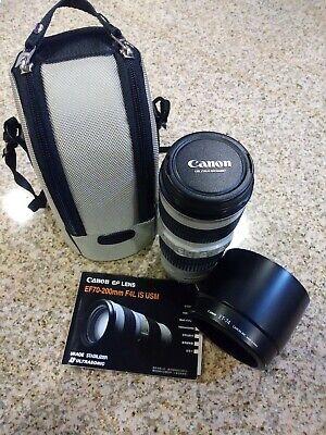 Canon EF 1258B002 70-200mm f/4 L IS USM Lens + Hoya UV Filter, Case & Hood ET-74