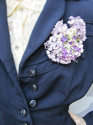 LOT-4* VTG 1950s DEADSTOCK MILLINERY HAT & CORSAGE FLOWERS *ROSES-VIOLETS $16.50