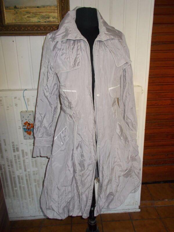 Manteau imperméable forme corolle gris métal zapa 38 pc59