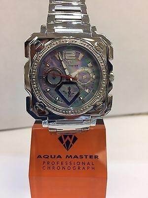 Men Aqua Master Jojo Jojino Joe Rodeo St Still Metal Ban45mm Diamond Watch W 355