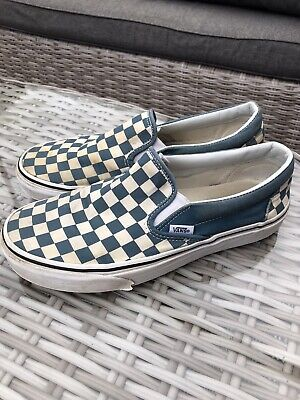 Cool Vans Blue Checkerboard Slip On Trainer, Size UK7, Used, VERY comfortable