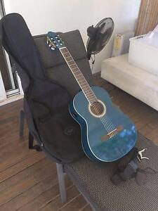 BLUE CLASSICAL GUITAR with accessories Byron Bay Byron Area Preview