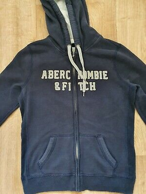 Womens Abercrombie And Fitch Navy Hoodie Size L