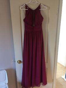 Berry long halter dress
