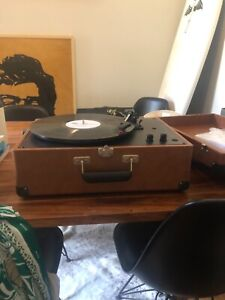 Crosby suitcase record player