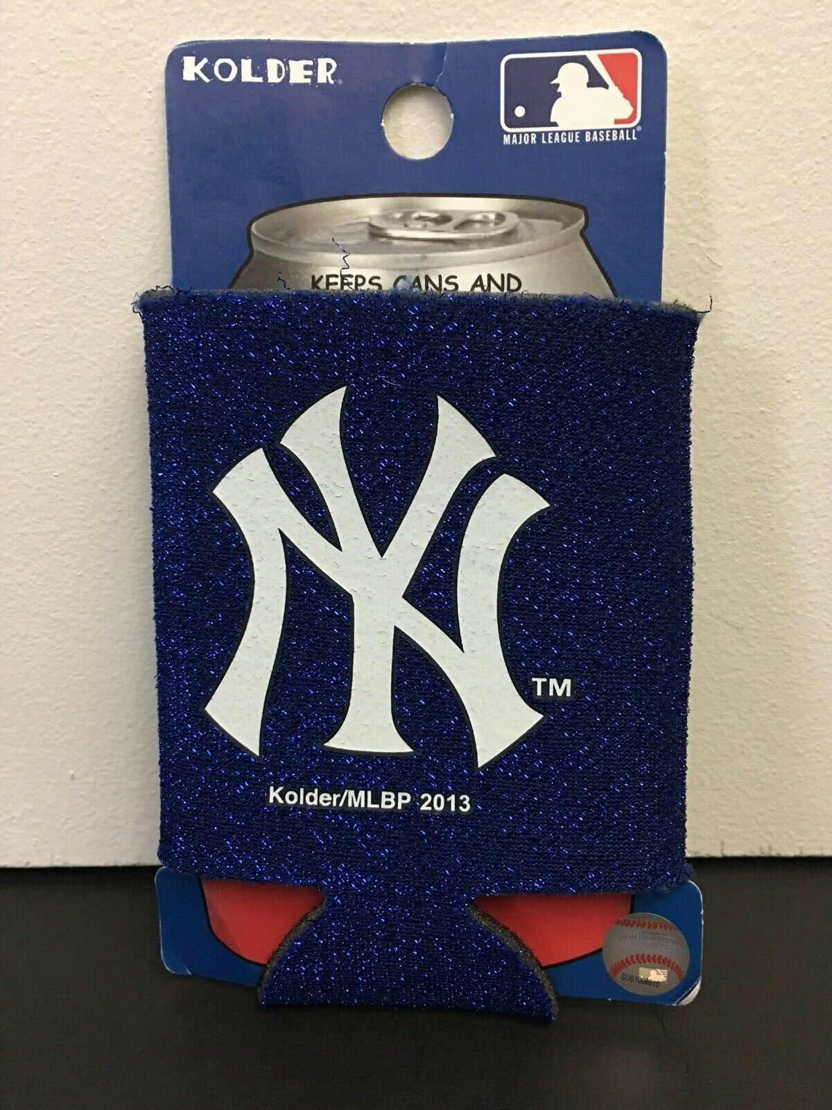 Ny Yankees Blue Sparkle Thermo Cool Can Koozie Portable Stad