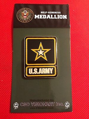 Army  Medallion -officially licensed product of US Army Metal adhesive badge