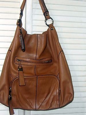 Beautiful B Makowsky Tan Leather Bag GUC