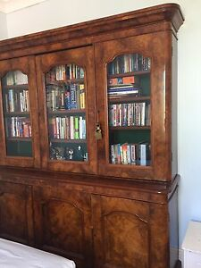 Antique triple fronted bookcase Woollahra Eastern Suburbs Preview