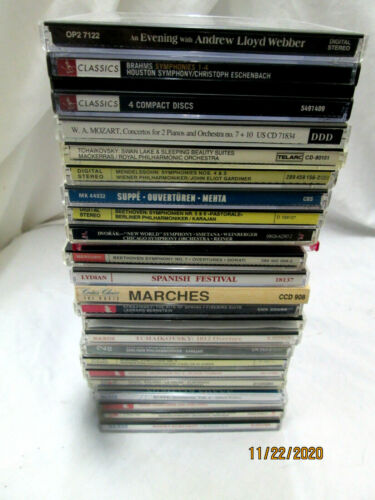 LOT OF 25 CLASSICAL CDs Several Multi disc Included Satie Brahms LIST BELOW
