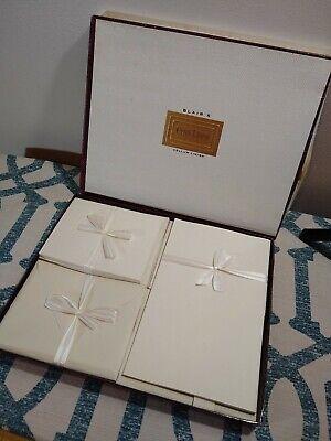 VTG Blair's Penn Linen Vellium Finish cream stationery + envelopes -