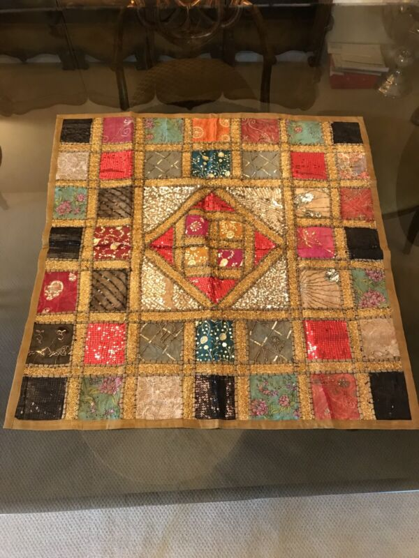 Quilted Handmade Tablecloth And Centerpiece