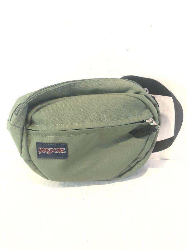 nwot vtg jansport olive green waist pack fanny pack unisex