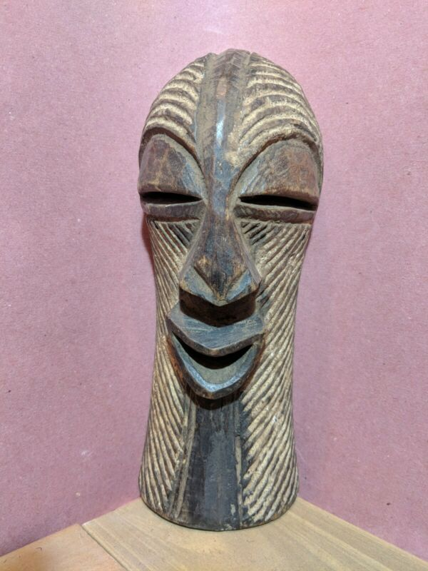 Songye Mask from DR Congo with Excellent Detail — Authentic Carved Wood Art