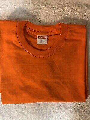abf3a932ee21 Supreme Blank Tee Orange Size Large Short Sleeve