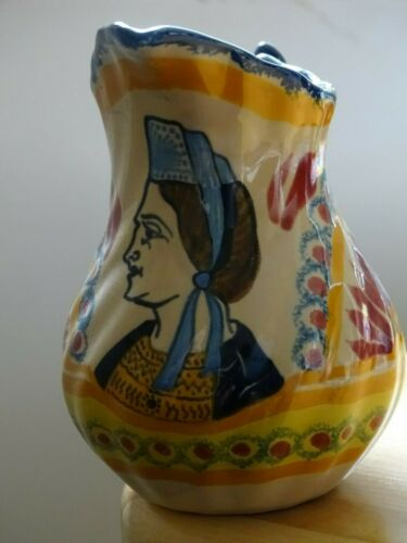 VINTAGE MILK POT FRENCH FAIENCE HENRIOT QUIMPER