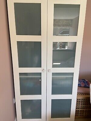 White Ikea double wardrobe. Used. Will need assembly. Good condition