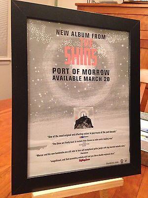 """FRAMED ORIGINAL THE SHINS """"PORT OF MORROW"""" LP ALBUM CD PROMO AD"""