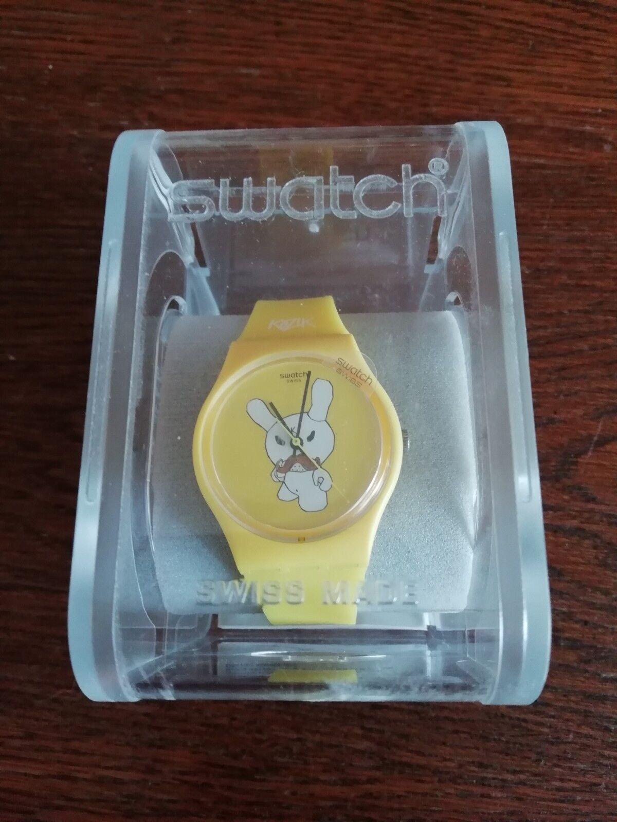 Swatch Kinderuhr gelb, Neu, voll funktionsfähig