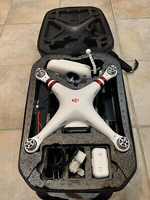 DJI Phantom 3 Sample Quadcopter Camera Drone - White + Hard Shell Case