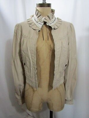 JOHNNY WAS 3J WORKSHOP The Vasquez Lambskin Leather Jacket Size Small
