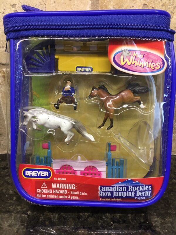 Breyer Mini Whinnies Canadian Rockies Show Jumping Derby. New In Package 2008