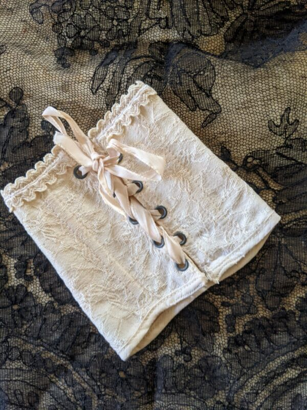 ANTIQUE BROCADE COTTON DOLL CORSET