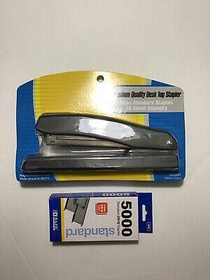 1 Pc Regent Premium Quality Desktop Stapler Free 5000 Bazic Standard Staples