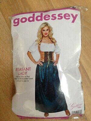NWT Women's Goddessey Peasant Lady Costume Size 10](Peasant Lady Costume)