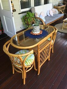 Cane patio/dining table for two Grange Brisbane North West Preview