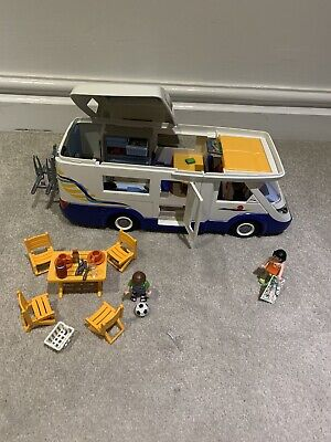 Playmobil Camper Van 4859. Almost complete. 4 Figures & Instructions Included