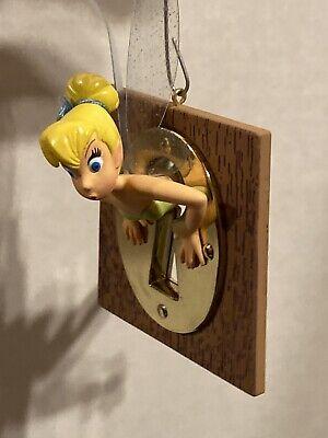Disney Sketchbook Ornament Tinkerbell Thru Keyhole Peter Pan Glitter Wings