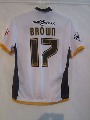 Michael Brown Match Worn Port Vale 2014-2015 Home Football Shirt with COA image