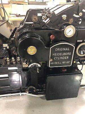 Heidelberg Ksba 18 X 23 Cylinder Letterpress Die Cutter