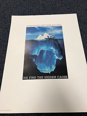Chiropractic Iceburg Symptoms Are Misleading Poster 18x24 Size