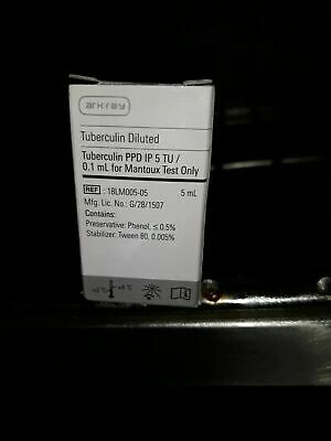 5tuberculin Ppd Ip 5 Tu0.1ml For Mantoux Test Only Diluted Arkay Pack Of 10