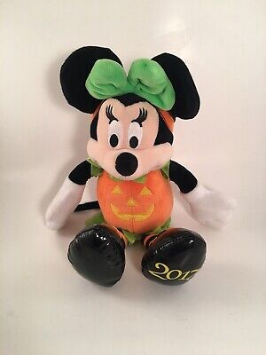 Disney Collection Minnie Mouse Orange Pumpkin Plush Toy Doll Date 2017 Halloween (Halloween Dates 2017)