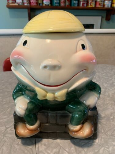 Humpty Dumpty cookie jar Brush W/8 USA