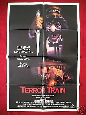 Terror Train Halloween (TERROR TRAIN * 1980 ORIGINAL MOVIE POSTER 1SH JAMIE LEE CURTIS HALLOWEEN NM)