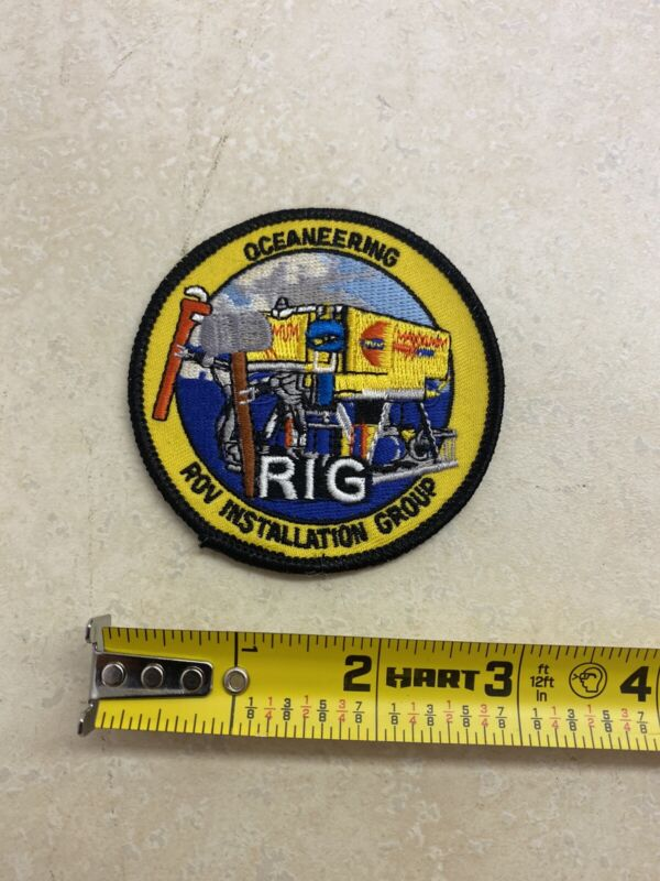 Old Oceaneering ROV Patch Arm Chest New Old Stock Remotely Operated Vehicle