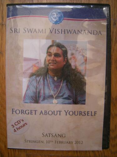 3 CDs SRI SWAMI VISHWANANDA Forget About Yourself Satsang