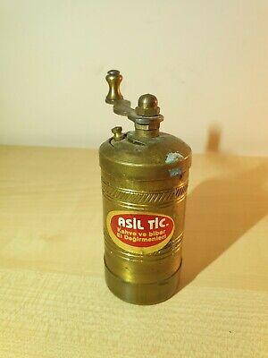 Vintage Handmade Pepper Grinder, Manual Pepper Grinder, Spice & Salt Mill,h-9cm