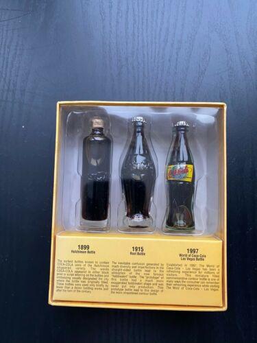 Brand new collectible Coca Cola mini vintage replica bottle set Las Vegas 1997