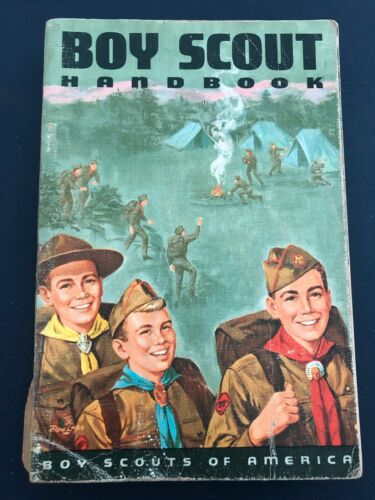 1965 (c)1965 First Print 7th Edition Boy Scout Handbook Boy Scouts of America