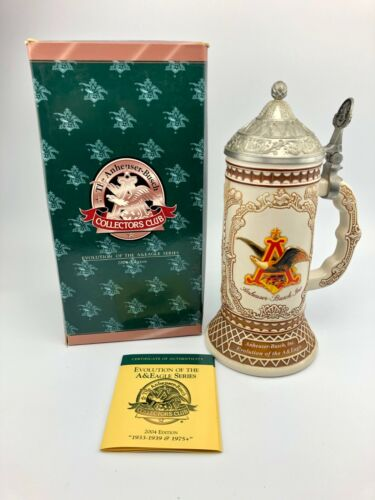 Anheuser-Busch Budweiser Collectors Evolution Of The A&Eagle Series 2004 Stein