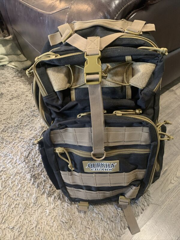 BRAND NEW GURKHA Cigar Black/Tan Tactical Outdoor Hiking School Camping Backpack