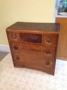 Antique Solid Wood 1930's Dresser, Nice Deep Drawers