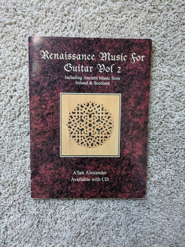 Renaissance Music for Guitar Vol 2 Book/CD Guitar Tab Book